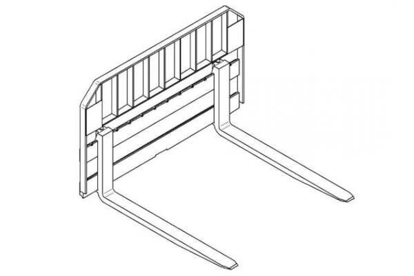 Paladin Pallet Rail Style Forks for sale at Grower's Equipment, South Florida
