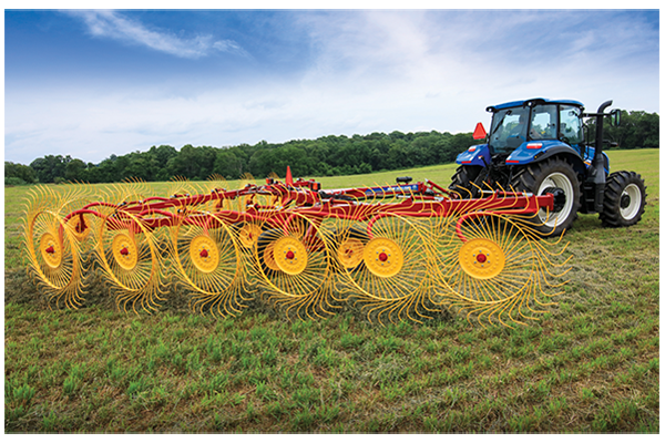 New Holland AG | ProCart and ProCart Plus Deluxe Carted Wheel Rakes | Model 1428 Plus 14-Wheel for sale at Grower's Equipment, South Florida