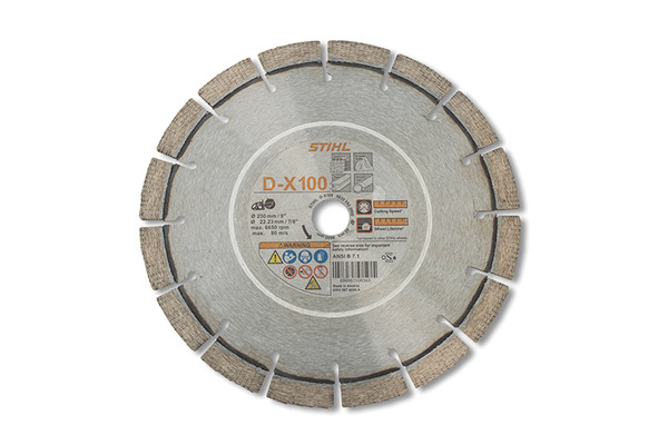 Stihl D-X 100 Diamond Wheel for Hard Stone/Concrete - Premium Grade for sale at Grower's Equipment, South Florida
